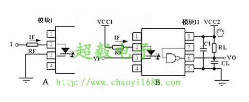 亿光高速光耦6n137的应用电路
