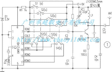 无线遥控器原理电路的的介绍与分析