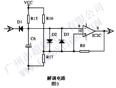 c3及ic 2d组成,将前级尖脉冲信号整形调制为等幅方波脉冲信号.