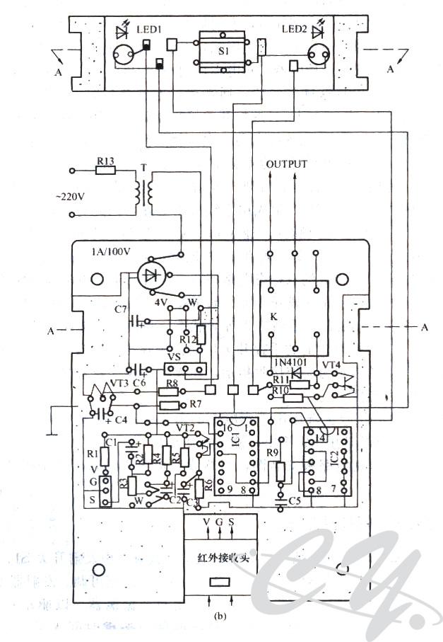 红外接收头应用电路工作原理