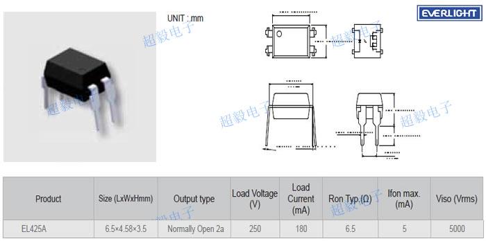 红外led固态继电器发光侧(输入侧)的光耦合到高电压输出检测电路.