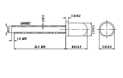 5mm红外线发射管感烟探测器专用料号ir333c亿光代理商供应